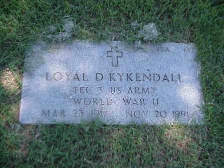 KYKENDALL (VETERAN WWII), LOYAL D - Pulaski County, Arkansas | LOYAL D KYKENDALL (VETERAN WWII) - Arkansas Gravestone Photos