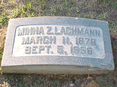 LACHMANN, MINNA Z - Pulaski County, Arkansas | MINNA Z LACHMANN - Arkansas Gravestone Photos