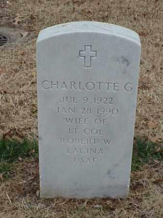 LACINA, CHARLOTTE G - Pulaski County, Arkansas | CHARLOTTE G LACINA - Arkansas Gravestone Photos