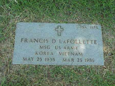 LAFOLLETTE (VETERAN 2 WARS), FRANCIS D - Pulaski County, Arkansas | FRANCIS D LAFOLLETTE (VETERAN 2 WARS) - Arkansas Gravestone Photos