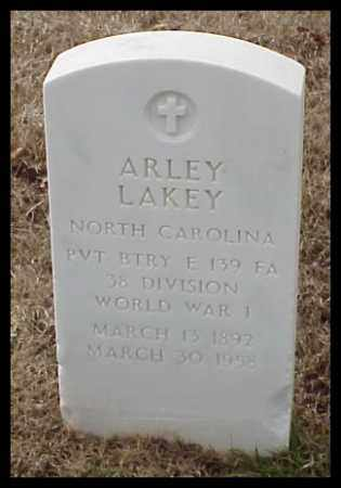 LAKEY (VETERAN WWI), ARLEY - Pulaski County, Arkansas | ARLEY LAKEY (VETERAN WWI) - Arkansas Gravestone Photos