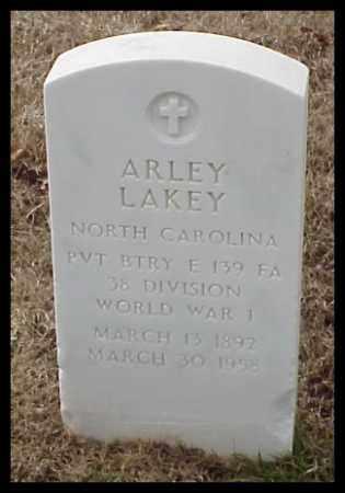 LAKEY (VETERAN WWI), ARLEY - Pulaski County, Arkansas | ARLEY LAKEY (VETERAN WWI) - Arkansas Gravestone Photos
