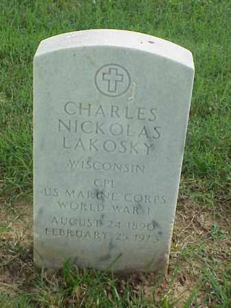 LAKOSKY (VETERAN WWI), CHARLES NICKOLAS - Pulaski County, Arkansas | CHARLES NICKOLAS LAKOSKY (VETERAN WWI) - Arkansas Gravestone Photos