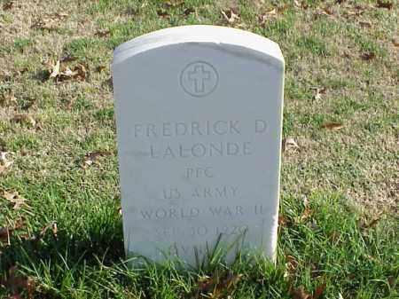 LALONDE (VETERAN WWII), FREDRICK D - Pulaski County, Arkansas | FREDRICK D LALONDE (VETERAN WWII) - Arkansas Gravestone Photos