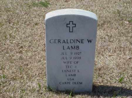 LAMB, GERALDINE W. - Pulaski County, Arkansas | GERALDINE W. LAMB - Arkansas Gravestone Photos
