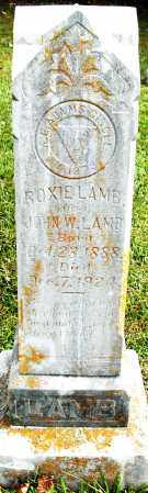 LAMB, ROXIE - Pulaski County, Arkansas | ROXIE LAMB - Arkansas Gravestone Photos