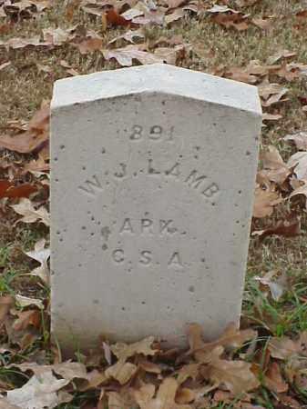 LAMB (VETERAN CSA), W J - Pulaski County, Arkansas | W J LAMB (VETERAN CSA) - Arkansas Gravestone Photos