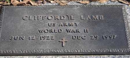 LAMB (VETERAN WWII), CLIFFORD L - Pulaski County, Arkansas | CLIFFORD L LAMB (VETERAN WWII) - Arkansas Gravestone Photos
