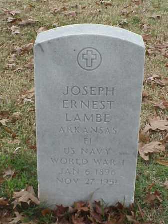 LAMBE (VETERAN WWI), JOSEPH ERNEST - Pulaski County, Arkansas | JOSEPH ERNEST LAMBE (VETERAN WWI) - Arkansas Gravestone Photos