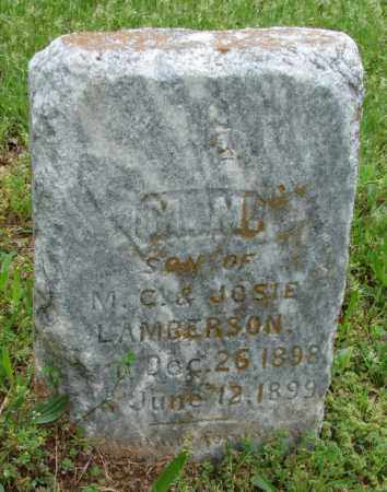 LAMBERSON, M M - Pulaski County, Arkansas | M M LAMBERSON - Arkansas Gravestone Photos