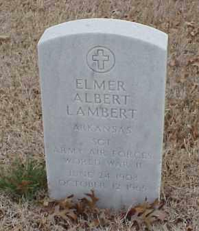 LAMBERT  (VETERAN WWII), ELMER ALBERT - Pulaski County, Arkansas | ELMER ALBERT LAMBERT  (VETERAN WWII) - Arkansas Gravestone Photos