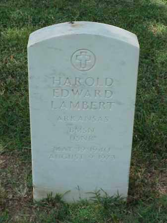 LAMBERT (VETERAN), HAROLD EDWARD - Pulaski County, Arkansas | HAROLD EDWARD LAMBERT (VETERAN) - Arkansas Gravestone Photos