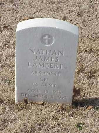 LAMBERT (VETERAN), NATHAN JAMES - Pulaski County, Arkansas | NATHAN JAMES LAMBERT (VETERAN) - Arkansas Gravestone Photos