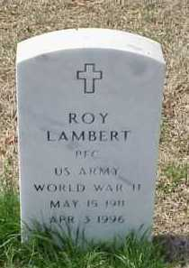 LAMBERT (VETERAN WWII), ROY - Pulaski County, Arkansas | ROY LAMBERT (VETERAN WWII) - Arkansas Gravestone Photos
