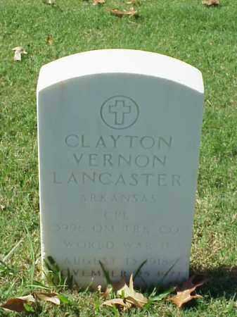 LANCASTER (VETERAN WWII), CLAYTON VERNON - Pulaski County, Arkansas | CLAYTON VERNON LANCASTER (VETERAN WWII) - Arkansas Gravestone Photos