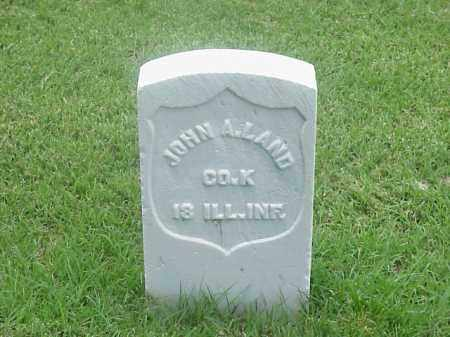 LAND (VETERAN UNION), JOHN A - Pulaski County, Arkansas | JOHN A LAND (VETERAN UNION) - Arkansas Gravestone Photos