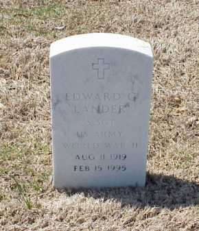 LANDER (VETERAN WWII), EDWARD G - Pulaski County, Arkansas | EDWARD G LANDER (VETERAN WWII) - Arkansas Gravestone Photos