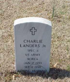 LANDERS, JR  (VETERAN KOR), CHARLES - Pulaski County, Arkansas | CHARLES LANDERS, JR  (VETERAN KOR) - Arkansas Gravestone Photos