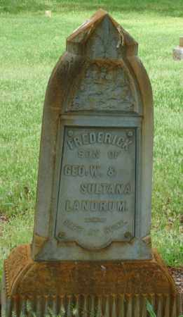 LANDRUM, FREDERICK P - Pulaski County, Arkansas | FREDERICK P LANDRUM - Arkansas Gravestone Photos