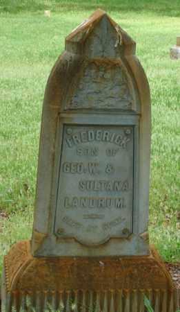 LANDRUM, FREDERICK P - Pulaski County, Arkansas | FREDERICK P LANDRUM - Arkansas Gravestone Photos