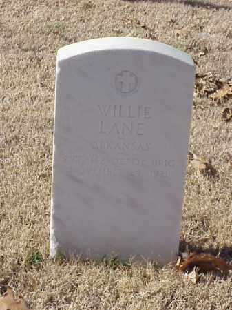 LANE (VETERAN WWI), WILLIE - Pulaski County, Arkansas | WILLIE LANE (VETERAN WWI) - Arkansas Gravestone Photos