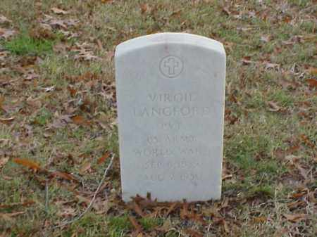 LANGFORD (VETERAN WWI), VIRGIL - Pulaski County, Arkansas | VIRGIL LANGFORD (VETERAN WWI) - Arkansas Gravestone Photos