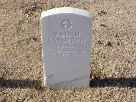LANGFORD (VETERAN WWI), WILLIAM - Pulaski County, Arkansas | WILLIAM LANGFORD (VETERAN WWI) - Arkansas Gravestone Photos