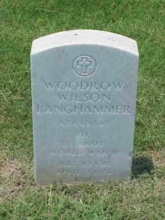 LANGHAMMER (VETERAN WWII), WOODROW WILSON - Pulaski County, Arkansas | WOODROW WILSON LANGHAMMER (VETERAN WWII) - Arkansas Gravestone Photos