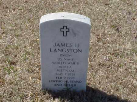 LANGSTON (VETERAN 3 WARS), JAMES H - Pulaski County, Arkansas | JAMES H LANGSTON (VETERAN 3 WARS) - Arkansas Gravestone Photos