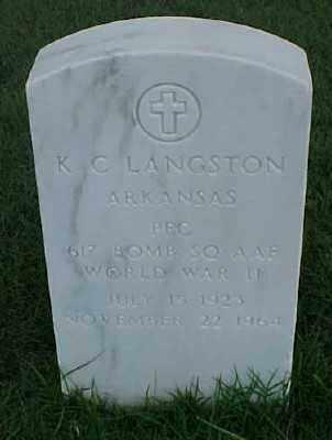 LANGSTON (VETERAN WWII), K C - Pulaski County, Arkansas | K C LANGSTON (VETERAN WWII) - Arkansas Gravestone Photos