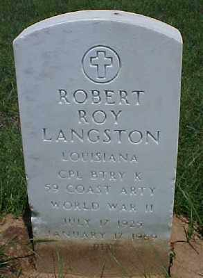 LANGSTON (VETERAN WWII), ROBERT ROY - Pulaski County, Arkansas | ROBERT ROY LANGSTON (VETERAN WWII) - Arkansas Gravestone Photos