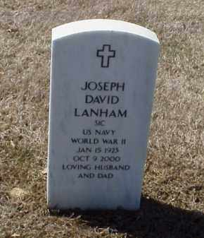 LANHAM (VETERAN WWII), JOSEPH DAVID - Pulaski County, Arkansas | JOSEPH DAVID LANHAM (VETERAN WWII) - Arkansas Gravestone Photos