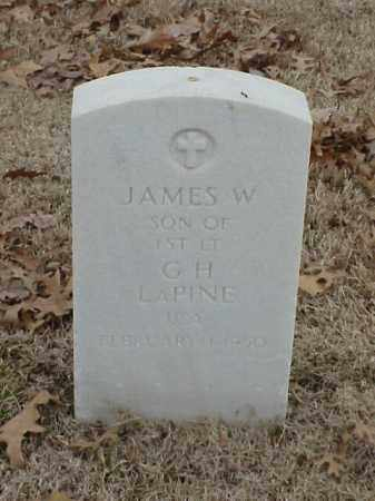 LAPINE, JAMES W - Pulaski County, Arkansas | JAMES W LAPINE - Arkansas Gravestone Photos