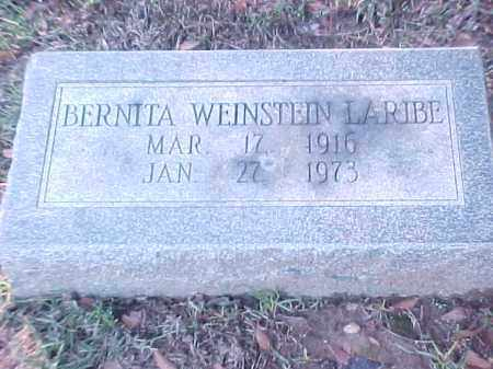 WEINSTEIN LARIBE, BERNITA - Pulaski County, Arkansas | BERNITA WEINSTEIN LARIBE - Arkansas Gravestone Photos