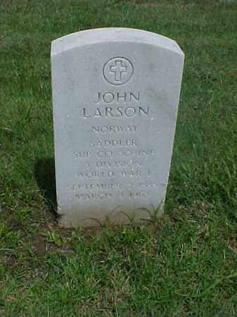 LARSON (VETERAN WWI), JOHN - Pulaski County, Arkansas | JOHN LARSON (VETERAN WWI) - Arkansas Gravestone Photos