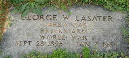 LASATER (VETERAN WWI), GEORGE W - Pulaski County, Arkansas | GEORGE W LASATER (VETERAN WWI) - Arkansas Gravestone Photos