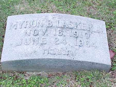 LASKER, JR, MYRON B - Pulaski County, Arkansas | MYRON B LASKER, JR - Arkansas Gravestone Photos