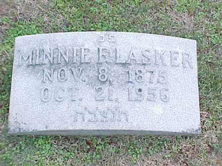 LASKER, MINNIE F - Pulaski County, Arkansas | MINNIE F LASKER - Arkansas Gravestone Photos