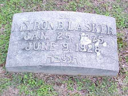 LASKER, MYRON - Pulaski County, Arkansas | MYRON LASKER - Arkansas Gravestone Photos