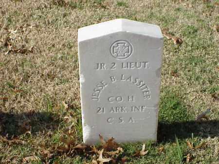 LASSITER (VETERAN CSA), JESSE B - Pulaski County, Arkansas | JESSE B LASSITER (VETERAN CSA) - Arkansas Gravestone Photos