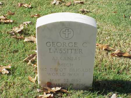 LASSITER (VETERAN WWI), GEORGE C - Pulaski County, Arkansas | GEORGE C LASSITER (VETERAN WWI) - Arkansas Gravestone Photos