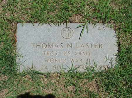 LASTER (VETERAN WWII), THOMAS N - Pulaski County, Arkansas | THOMAS N LASTER (VETERAN WWII) - Arkansas Gravestone Photos