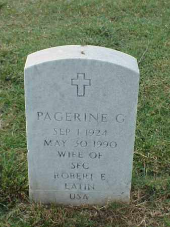 LATIN, PAGERINE G - Pulaski County, Arkansas | PAGERINE G LATIN - Arkansas Gravestone Photos
