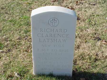 LATSHAW (VETERAN WWII), RICHARD CLARENCE - Pulaski County, Arkansas | RICHARD CLARENCE LATSHAW (VETERAN WWII) - Arkansas Gravestone Photos