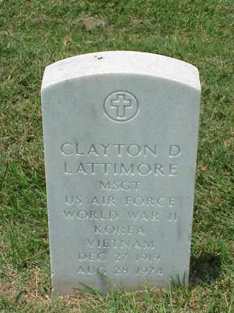 LATTIMORE (VETERAN 3 WARS), CLAYTON D - Pulaski County, Arkansas | CLAYTON D LATTIMORE (VETERAN 3 WARS) - Arkansas Gravestone Photos