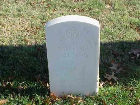 LATTING (VETERAN WWI), NATHAN - Pulaski County, Arkansas | NATHAN LATTING (VETERAN WWI) - Arkansas Gravestone Photos