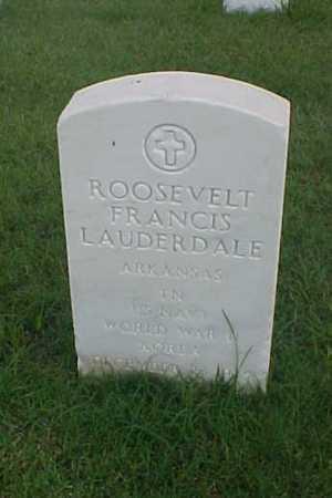 LAUDERDALE (VETERAN 2 WARS), ROOSEVELT FRANCIS - Pulaski County, Arkansas | ROOSEVELT FRANCIS LAUDERDALE (VETERAN 2 WARS) - Arkansas Gravestone Photos