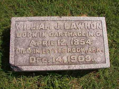 LAWHON, WILLIAM J - Pulaski County, Arkansas | WILLIAM J LAWHON - Arkansas Gravestone Photos