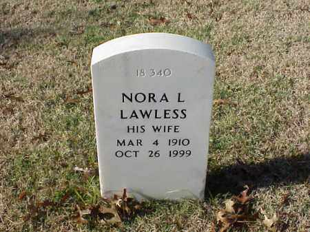 LAWLESS, NORA L - Pulaski County, Arkansas | NORA L LAWLESS - Arkansas Gravestone Photos