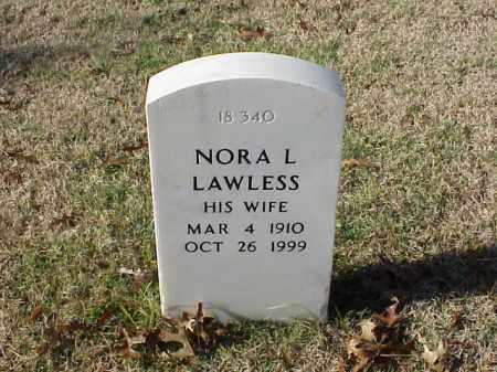 LAWLESS, NORA L - Pulaski County, Arkansas   NORA L LAWLESS - Arkansas Gravestone Photos